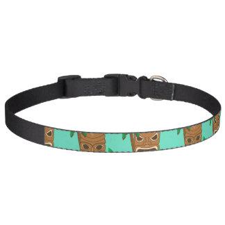 Hawaiian Tiki Repeat Pattern Pet Collar