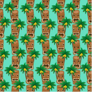 Hawaiian Tiki Repeat Pattern Photo Sculpture Ornament