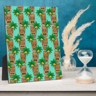 Hawaiian Tiki Repeat Pattern Plaque