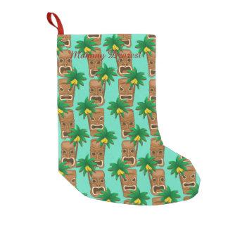 Hawaiian Tiki Repeat Pattern Small Christmas Stocking