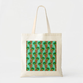 Hawaiian Tiki Repeat Pattern Tote Bag