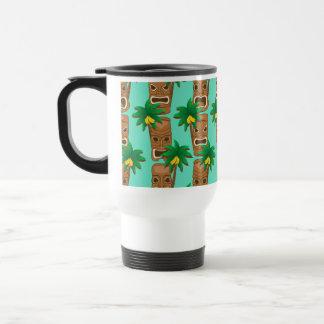 Hawaiian Tiki Repeat Pattern Travel Mug