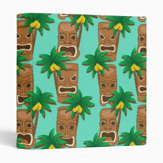 Hawaiian Tiki Repeat Pattern Vinyl Binder