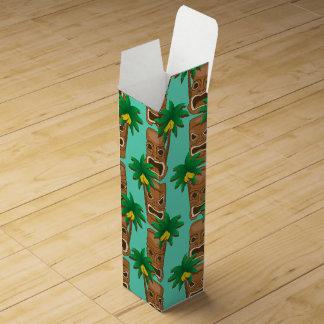 Hawaiian Tiki Repeat Pattern Wine Gift Box