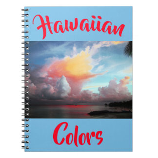 Hawaiian Tropical Colors Spiral Notebook