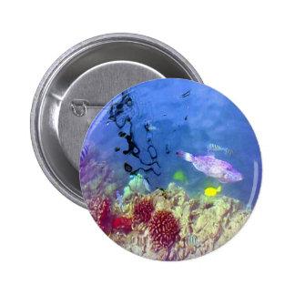 Hawaiian Tropical Fish Button