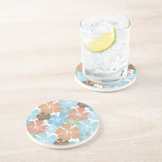 Hawaiian Tropical Hibiscus Flowers Coaster