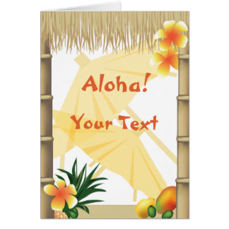 Hawaiian Tropical Luau Party Aloha Greeting Card