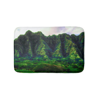 Hawaiian Tropical Mountain Range Bath Mat