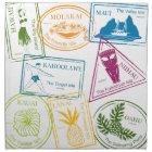 Hawaiian Tropical Passport Stamps Napkins
