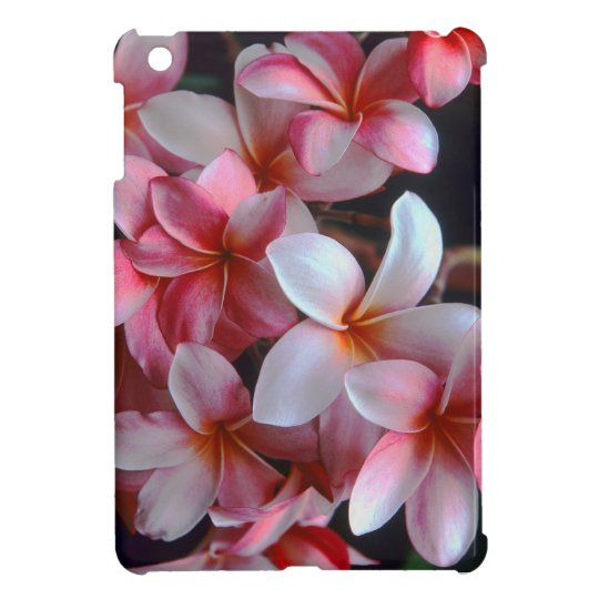 Hawaiian Tropical Plumeria Flowers iPad Mini Cover