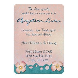Hawaiian Tropical Reception Invitation Card
