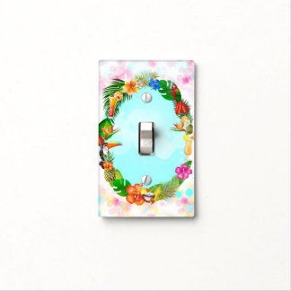 Hawaiian Tropical Summer Things Frame Chic Light Switch Cover