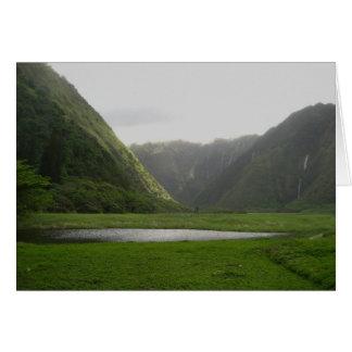 Hawaiian Valley Card