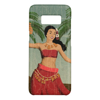 Hawaiian Vintage Hula Girl Distressed Postcard Case-Mate Samsung Galaxy S8 Case
