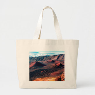 Hawaiian Volcano Crater Fields Large Tote Bag