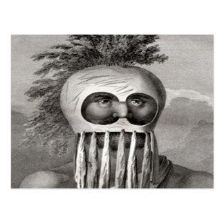 Hawaiian Warrior King Kamehameha Postcard