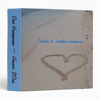 Hawaiian Wedding Heart in Sand photo album Binders