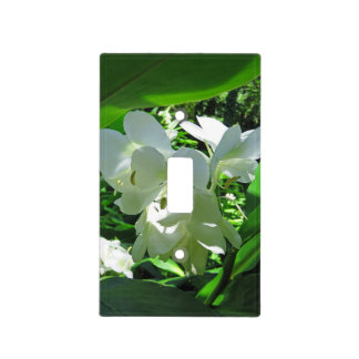 Hawaiian White Ginger Light Switch Cover