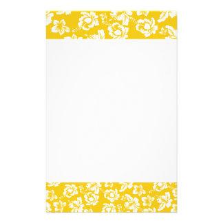 Hawaiian Yellow Flower Stationery