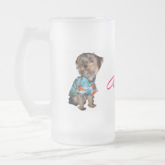 Hawaiian Yorkie Frosty Mug