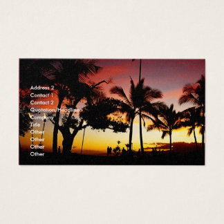 Hawaiin theme business card