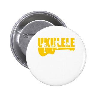 Hawaiin Ukulele 2 Inch Round Button