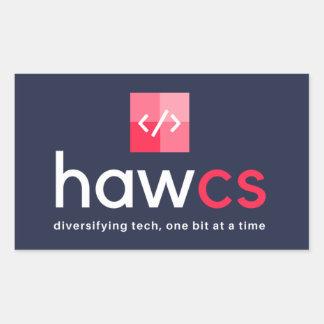 HAWCS Club Navy Rectangular Sticker