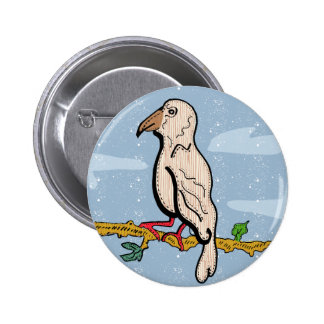 Hawfinch badge original illustration 2 inch round button