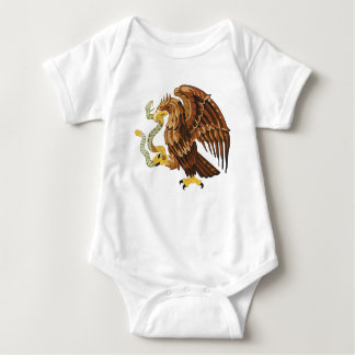 Hawk and snake baby bodysuit