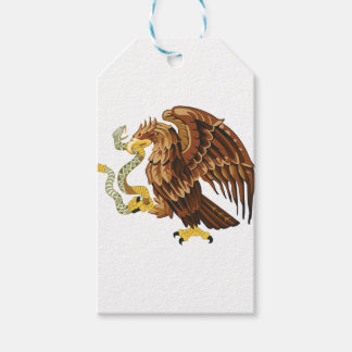 Hawk and snake gift tags