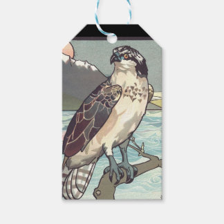 Hawk at sunset gift tags