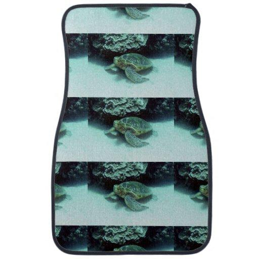 Hawk Billed Turtle Car Mat