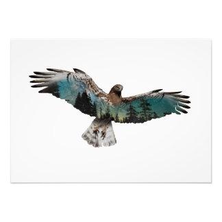 Hawk Double Exposure Photo Print