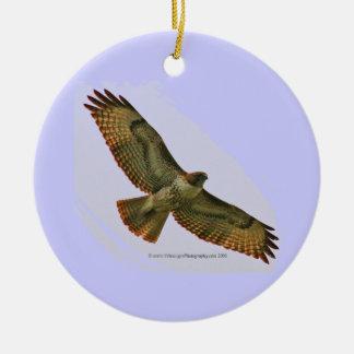 Hawk & Duck holiday ornament