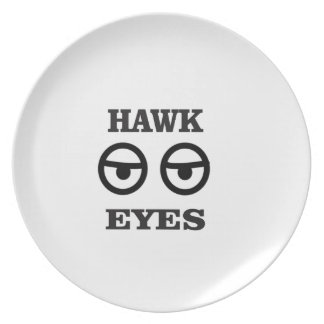 hawk eye fun party plate