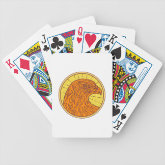 Hawk Eye Side Circle Mono Line Bicycle Playing Cards
