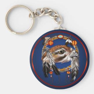 Hawk Face Dream Catcher Keychain