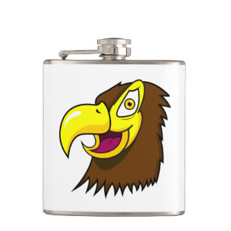 Hawk Face Hip Flask
