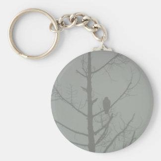 Hawk In The Mist Keychain
