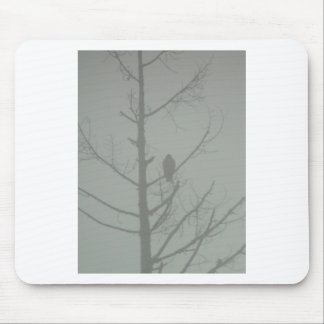 Hawk In The Mist Mouse Pad