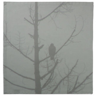 Hawk In The Mist Napkin