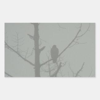 Hawk In The Mist Sticker