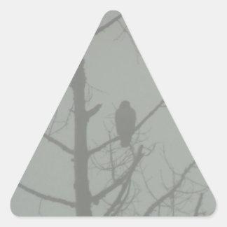 Hawk In The Mist Triangle Sticker