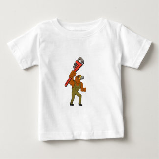Hawk Mechanic Pipe Wrench Cartoon Baby T-Shirt