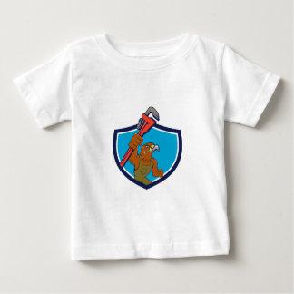 Hawk Mechanic Pipe Wrench Crest Cartoon Baby T-Shirt