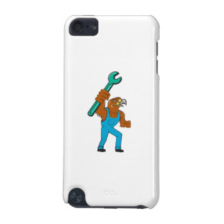 Hawk Mechanic Standing Pipe Spanner Cartoon iPod Touch (5th Generation) Cases
