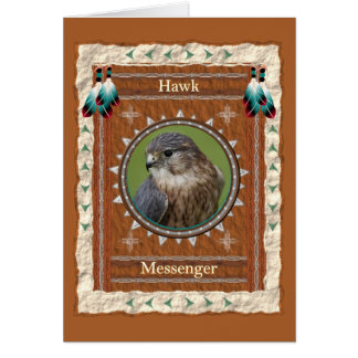 Hawk  -Messenger- Custom Greeting Card