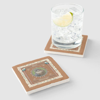 Hawk  -Messenger- Marble Coaster