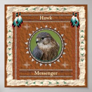 Hawk  -Messenger- Poster Print
